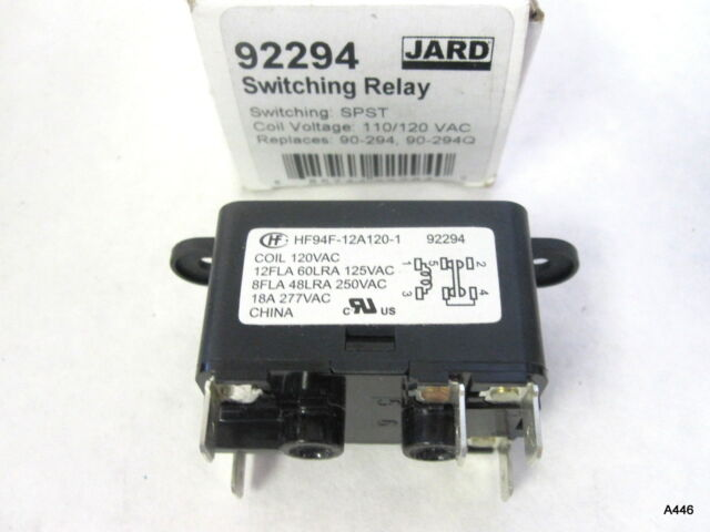 JARD 92294 Switching Relay SPST 11/120 VAC Replaces 90-294