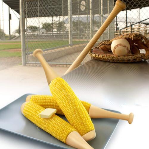 Set of 2 Novelty Baseball Bat For Corn On The Cob Holder Forks Sticks Plastic