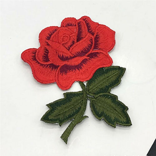 Embroidered Flower Applique Iron On Sew On Patch Clothing Peony SE
