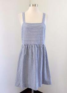 Nwt Ann Taylor Loft Blue White Striped Fit Amp Flare Dress