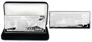 VELVET GIFT BOX $10,000 1934 PROOF 4oz CURRENCY UNC SILVER BAR COA CASE