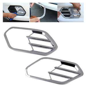 2x-Chrome-Plated-Front-Fog-Light-Lamp-Cover-Trim-Fit-for-Ford-Escape-Kuga-2017
