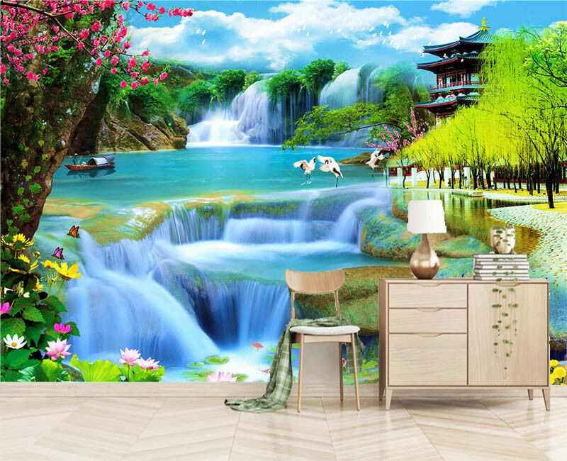Warm Orient Water 3D Full Wall Mural Photo Wallpaper Printing Home Kids Decor