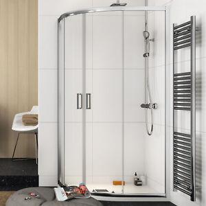 Box doccia 70x90 semicircolare stondato cristallo per piatti doccia ...