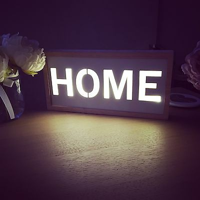 Light Up Led 'HOME' Sign-Brand New!! Next/Dunelm