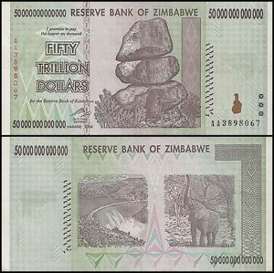 Image Is Loading 50 Trillion Zimbabwe Dollar Money Currency Au Circulated