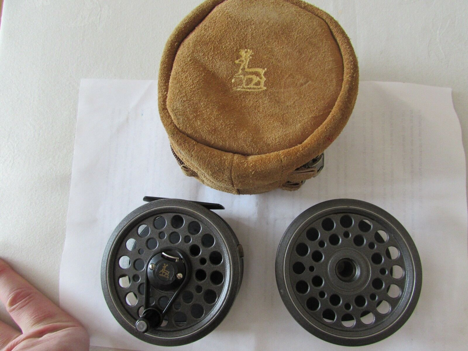 Vintage youngs shakespeare 2864 multiplier speedex fly fishing reel & spool etc