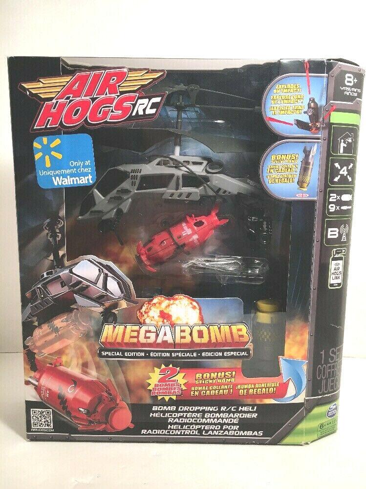 garantito specialeeee edizione Air Hogs RC Megabomb Megabomb Megabomb Bomb Dropping RC Heli Helicopter Set scatolaED  migliore qualità