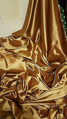 """5 MTRS GOLD TAFFETTA .....58/"""" WIDE"""