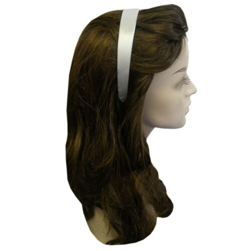 Satin Covered Headbands Hard Colorful for Girl 1 Inch Band Hair Accessory