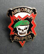 US ARMY AIRBORNE SNIPER SPECIAL FORCES GREEN BERET LAPEL PIN BADGE 1.5 INCHES