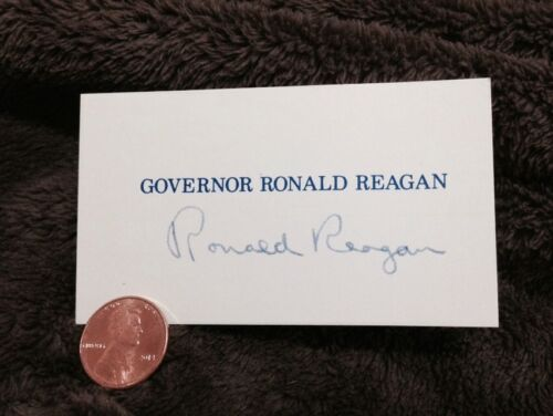 Ronald Reagan Signed//Autographed Calling Card First Generation Copy