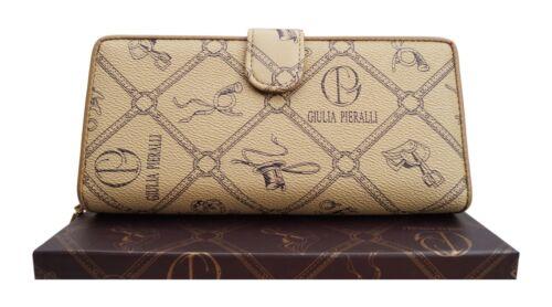 ★Damen XXL Geldbörse Giulia Pieralli Design groß Portemonnaie Geldbeutel Karamel