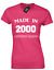 Made in 2000 Ladies T-Shirt Funny 18th Birthday Poison Present Idea Maman Papa Design