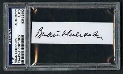 Brian Mulroney Unterzeichnet Autogramm Auto 1x3.5 Schliff Psa Slabbed Frühere PüNktliches Timing Sammeln & Seltenes Autogramme & Autographen