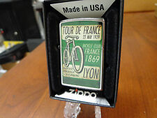 TOUR DE FRANCE VINTAGE BICYCLE POSTER 1929 1869 ZIPPO LIGHTER MINT IN BOX 2016