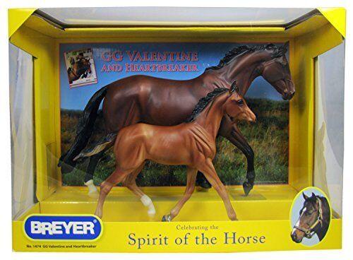 Breyer Horse Traditional GG VALENTINE & HEARTBREAKER 1474  Limited Shiny version