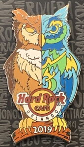 Hard-Rock-Cafe-ORLANDO-2019-OWL-PIN-with-Split-Color-Pattern-New-LE-300