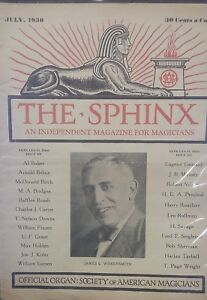 Vintage-The-Sphinx-ISSUE-1930-James-C-Wobensmith