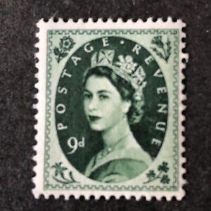 GREAT BRITAIN, SCOTT # 328, SG #526 9p VALUE 1956 QE2 DEFINITIVE ISSUE MNH