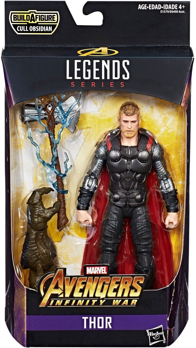 Avengers  Infinity War Marvel Legends Cull Obsidian Series Thor Figure Action Figure Thor 591050