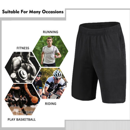 Men Basketball Shorts Active Athletic Workout Gym Sport Training Pants Cool Dry