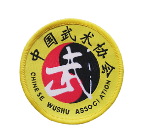 10PCS Chinese wushu Martial Art association Badge Patches Kung Fu Embroidery WU