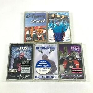 Lot-of-5-Cassette-Tapes-FLORIDA-Gangsta-Rap-Hip-Hop-69-Boyz-DJ-Magic-Mike-SEALED
