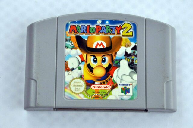 Mario Party 2 For 64 Bit - EUR Version PAL Card