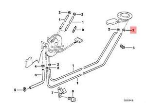 Genuine BMW E32 E34 Sedan Radiator Cooling Hose Clamp OEM 11531718959