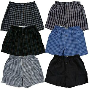 3-6-12-Boxers-Men-Knocker-Boxer-Trunk-Plaid-Checker-Shorts-Underwear-Lot-Cotton