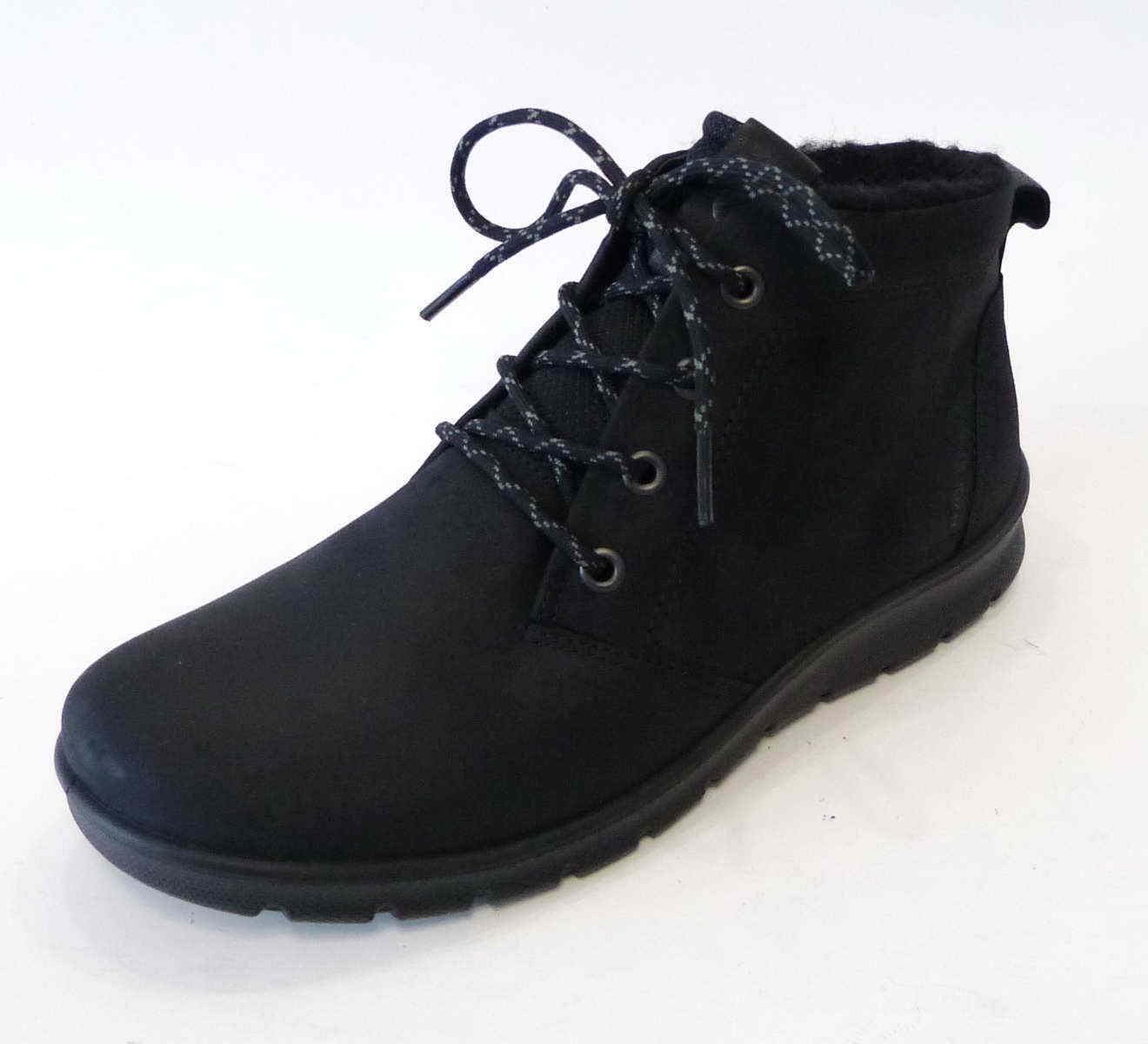 Ecco Boot Babett black Warm Leder Schnür Einlage 215613 12001