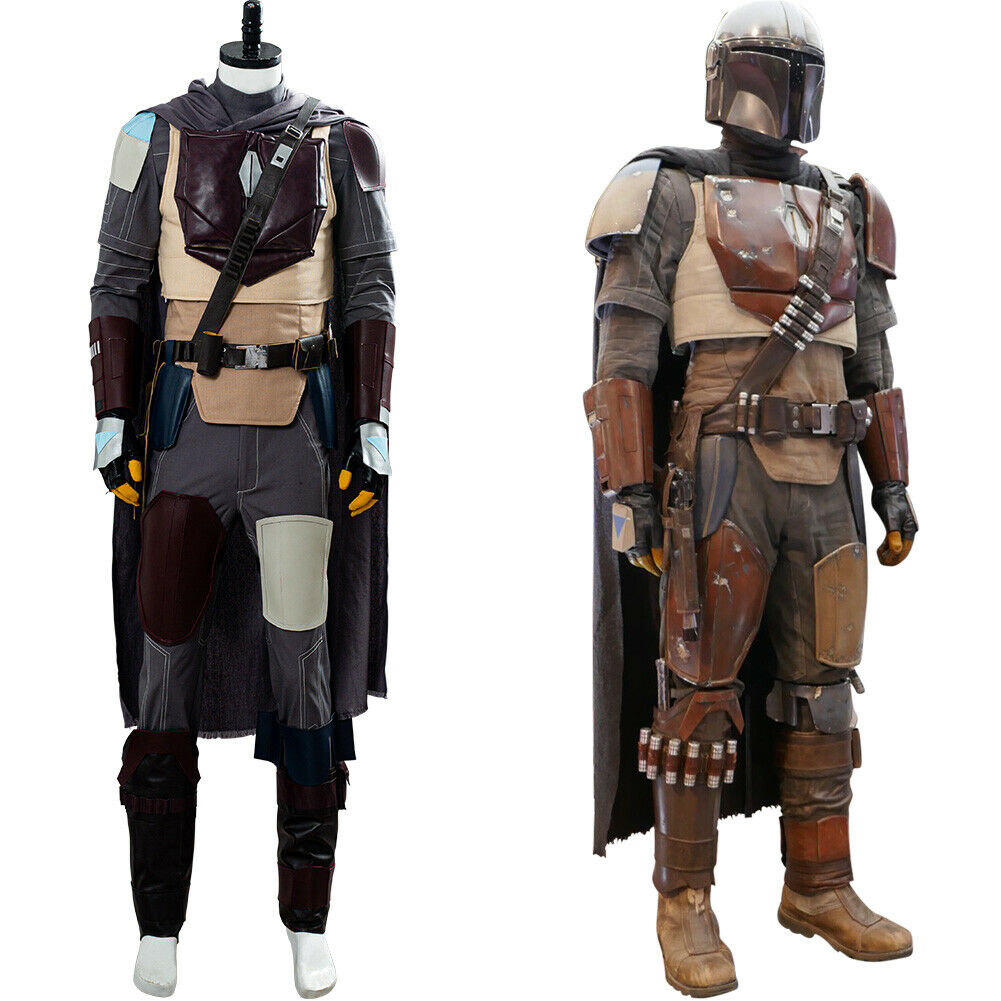 Star Wars The Mandalorian Outfit Cosplay Costume Halloween Uniform Suit Full Set