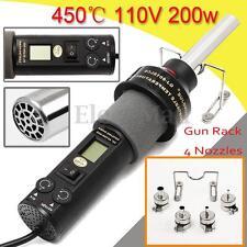 110V 200W LCD Hot Air Gun Heat Gun Soldering Station ICs SMD for BGA Nozzle New