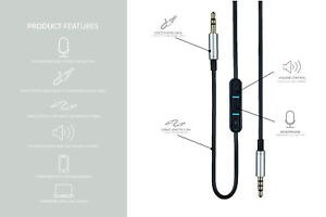 new 3.5mm Replacement Headphone Cable For Marshall monitor NAD VISO HP50 FOCAL