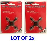 Lot Of 2 Chuck Key 4 In 1 Fit Drill Power Tool Universal Cordless Free Ship