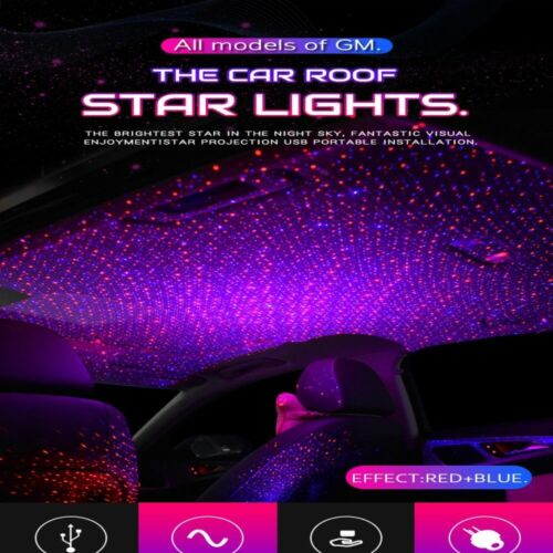 LED car roof star projector atmosphere Galaxy lamp USB decorative lights-//