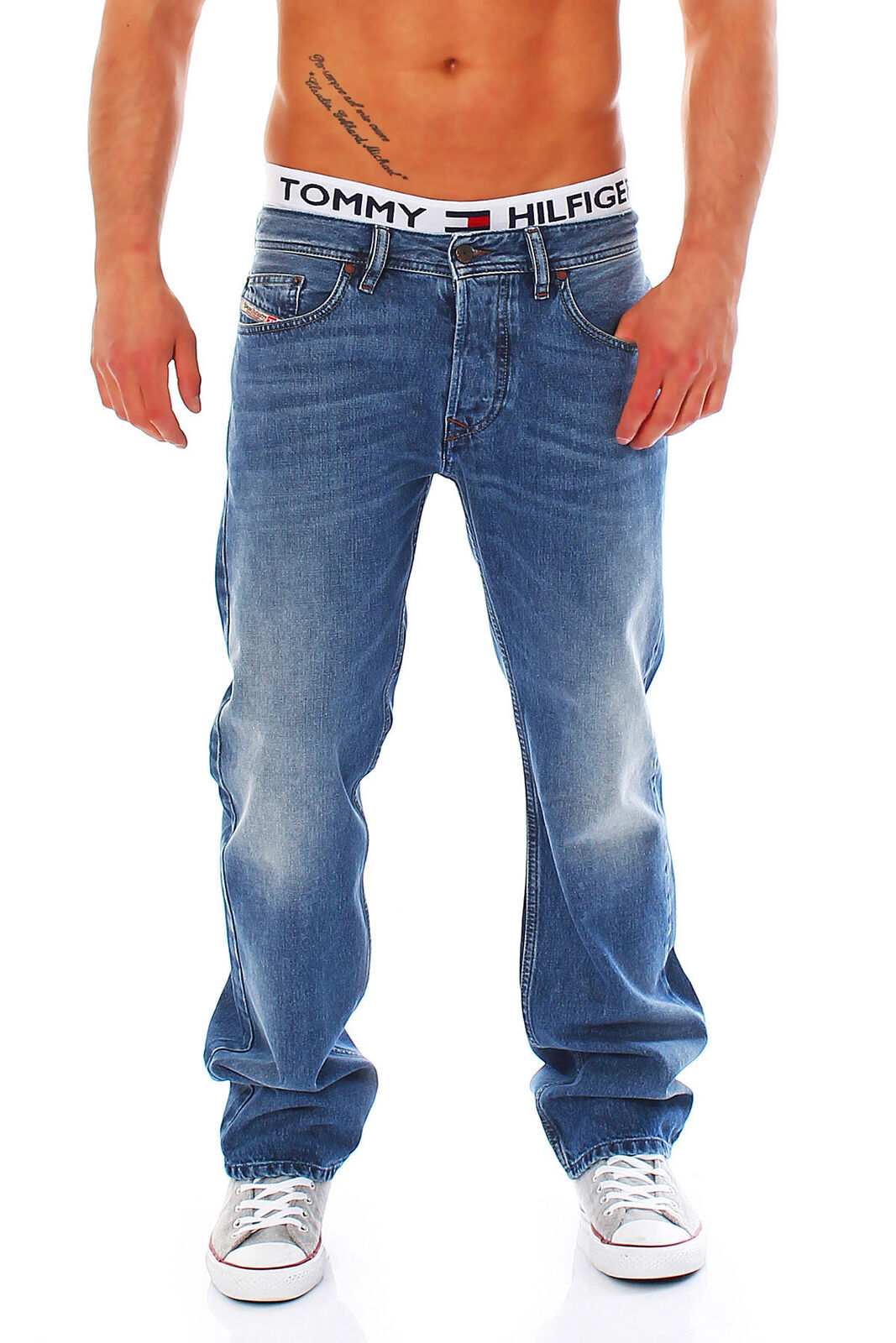 JEANS DIESEL Larkee Uomo pantaloni Regular Straight NUOVO