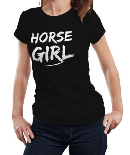 Horse Girl Horse Riding Lover Pony Racer Ladies Women Gift T-shirt Tshirt Top