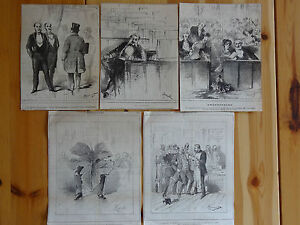 HENRIOT-Le-CHARIVARI-Caricatures-Humour-XIXe-Politique-Deputes-Senateurs-et-elus