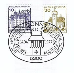 Obligeant Rfa 1977: Château Glücksburg + Château Ludwig Pierre Nr 913+914 Bonner Tampon 1 A 1709-afficher Le Titre D'origine Vif Et Grand Dans Le Style