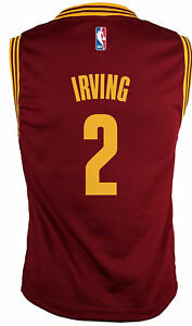 88b39b0de62 Image is loading Kyrie-Irving-Youth-Cleveland-Cavaliers-Wine-Replica- Basketball-