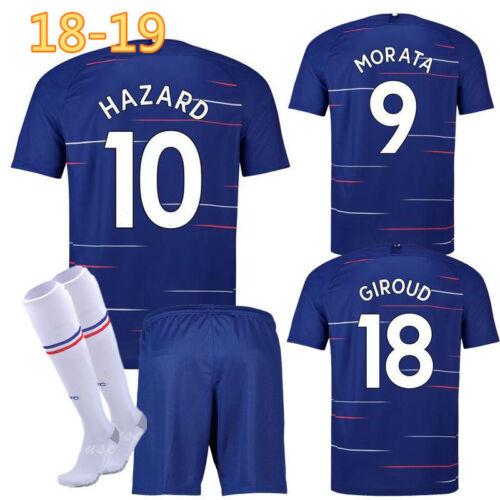 Socks UK 18//19 New Kids Boy Football Jersey Kit Soccer Wears Short Sleeve Shirt
