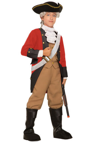 British Red Coat Colonial Revolutionary War Child Costume Small