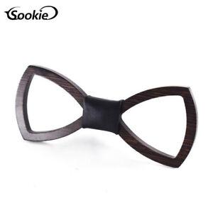 Handmade-Men-039-s-Wedding-Wooden-Bow-Tie-Party-Retro-Fashion-Wood-Tuxed-Necktie-New