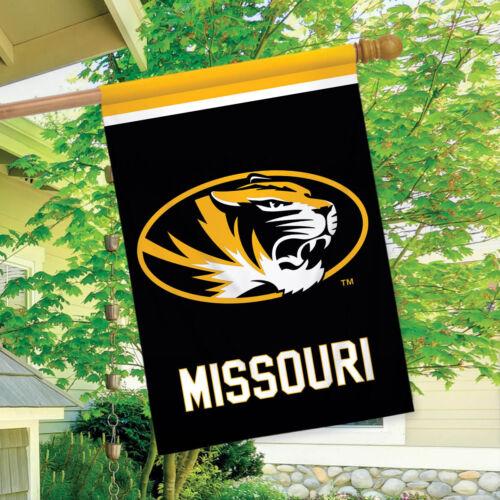 """Missouri Tigers House Flag NCAA Licensed 28/"""" x 40/"""" Briarwood Lane"""
