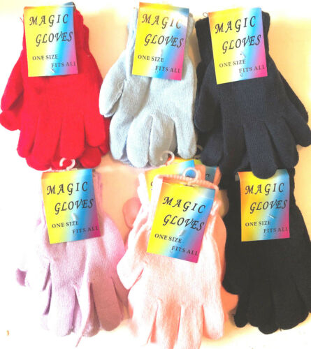 ADULTS MAGIC GLOVES 12 PAIR ASSORTED  MAGIC GLOVES SPECIAL OFFER ON 12 PAIR