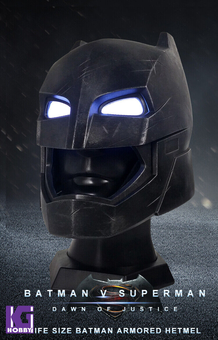 Bre Toys Batman VS Super Man Wearable Armorosso Batman 1 1 Helmet Life Dimensione New