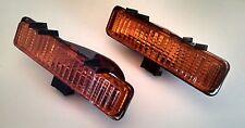 82 93 Chevy S10 L&R Amber Bumper Parking Light Set, Blazer, GMC S15 Bravada