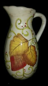 Laurie-Gates-Ware-Provence-Scroll-Ceramic-Pitcher-Tall-14-x5